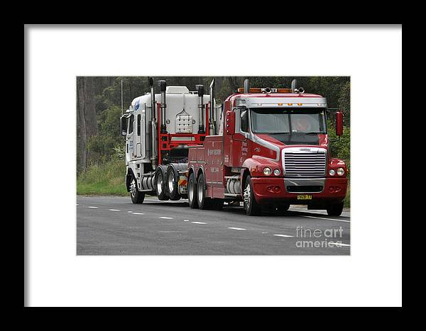 Truck Framed Print featuring the photograph Truck Tow by Joanne Kocwin