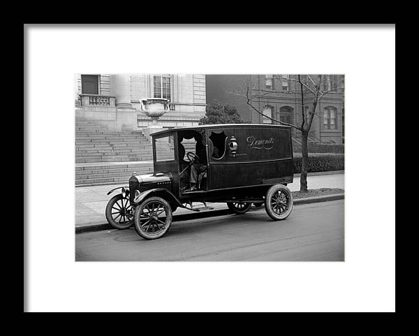 1920s Framed Print featuring the photograph Trucks. Dermonets Ford Delivery Truck by Everett