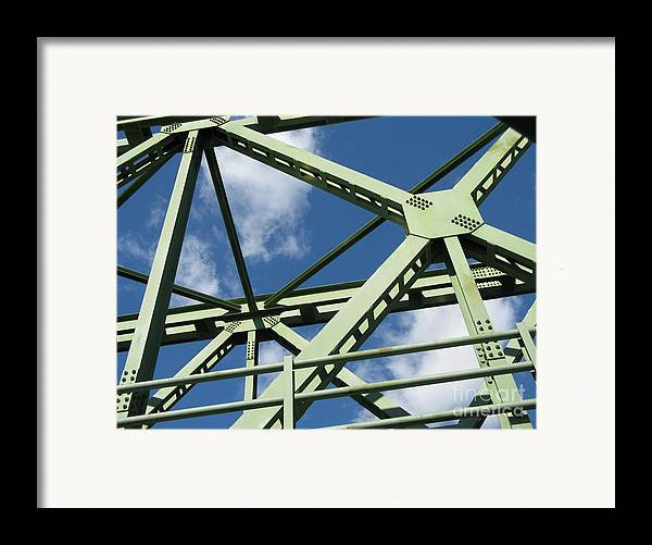Architecture Framed Print featuring the photograph Truss by Arlene Carmel