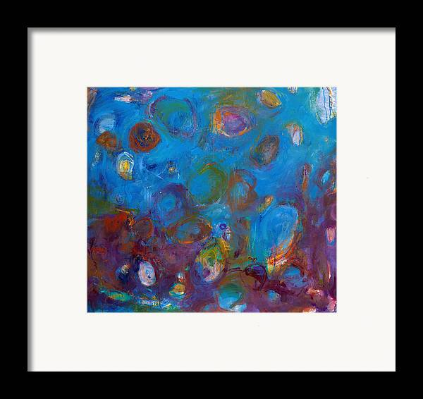 Abstract Expressionistic Framed Print featuring the painting Truth In Dreams I by Johnathan Harris