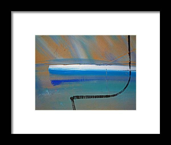 Tsunami Framed Print featuring the painting Tsunami Wave by Charles Stuart