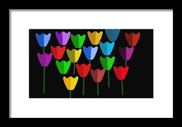 Caribbean Flora Framed Print featuring the digital art Tulip 3 by Sula Chance