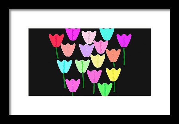 Framed Print featuring the digital art Tulip 4 by Sula Chance