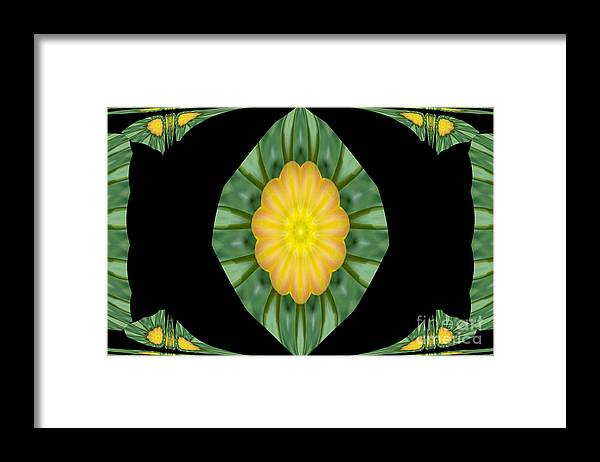 Digital Design Framed Print featuring the photograph Tulips 2 by Mark Gilman