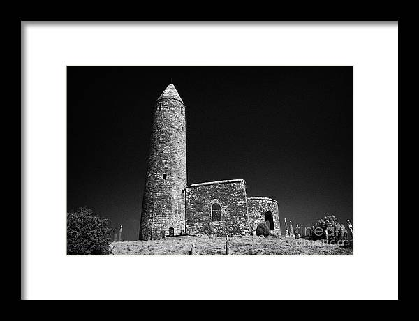 Europe Framed Print featuring the photograph Turlough Round Tower County Mayo Ireland by Joe Fox