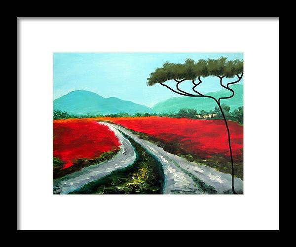 Italy Framed Print featuring the painting Tuscan Bliss by Larry Cirigliano