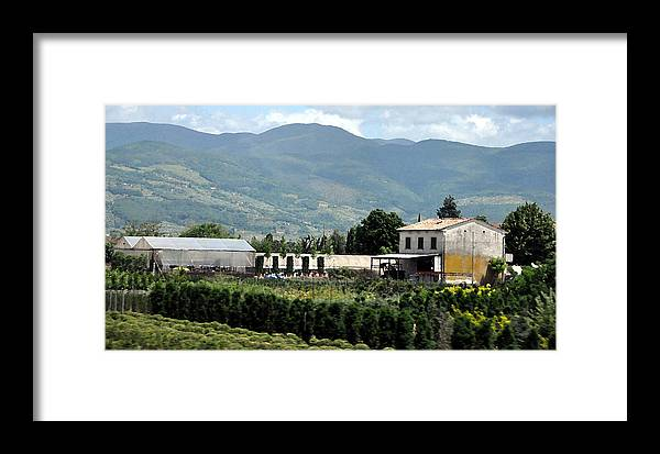 Tuscan Framed Print featuring the photograph Tuscan Countryside by Allan Rothman