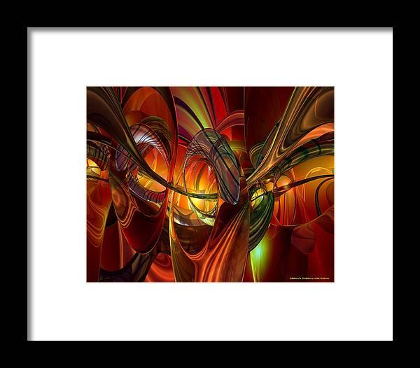 Canvas Framed Print featuring the digital art Twilight Abstract Fx by G Adam Orosco