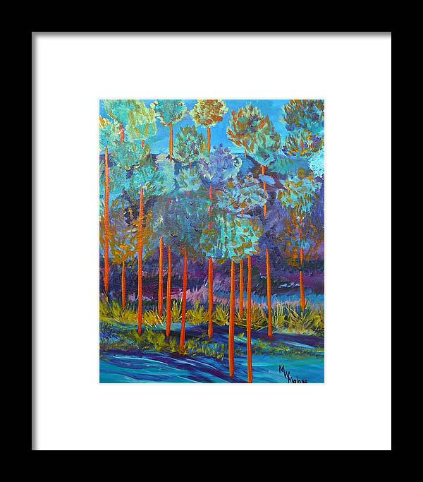 Canyon Framed Print featuring the painting Twilight In The Canyon by Mark Malone