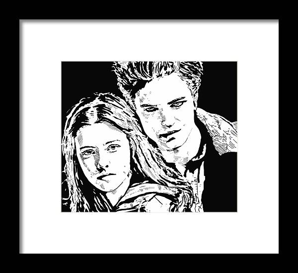 Vampires Framed Print featuring the drawing Twilight by Lori Jackson