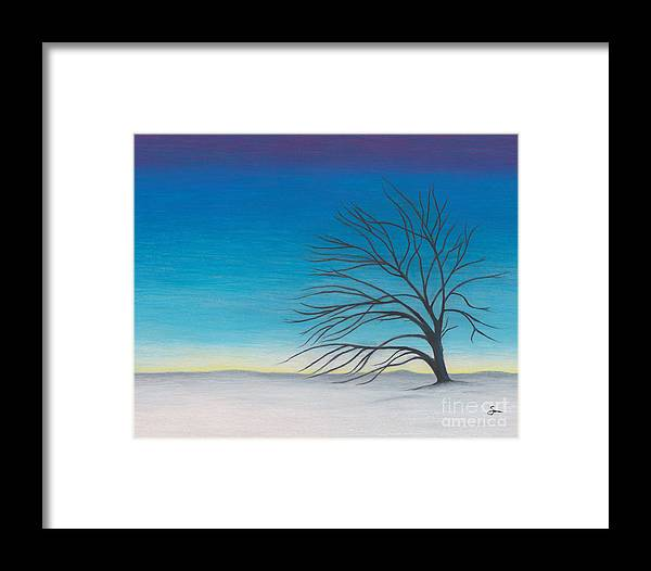 Landscape Framed Print featuring the painting Twilight by Scott Alberts