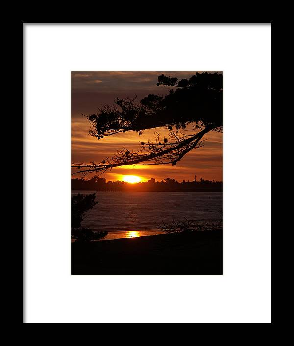 Framed Print featuring the photograph Twin Lakes Sunset by Liz Barton-de Paul