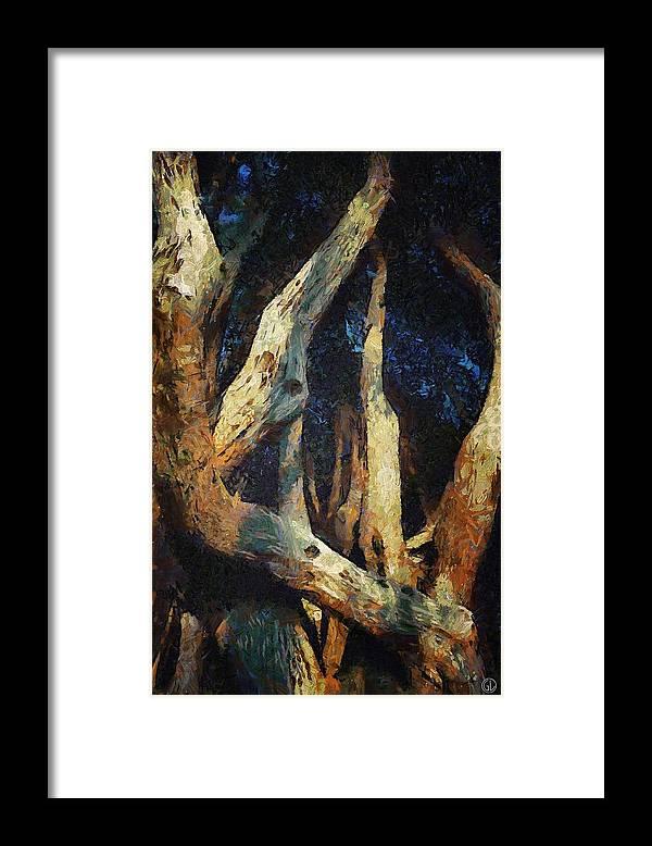 Nature Framed Print featuring the digital art Twisted by Gun Legler