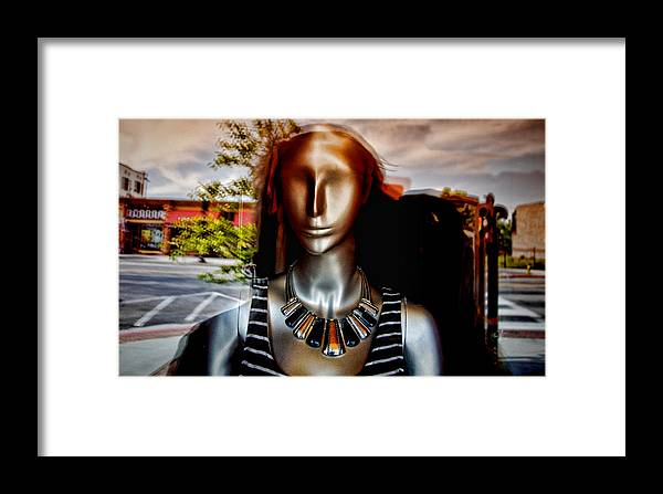 Statue Framed Print featuring the photograph Two Bit Street by Al Perry