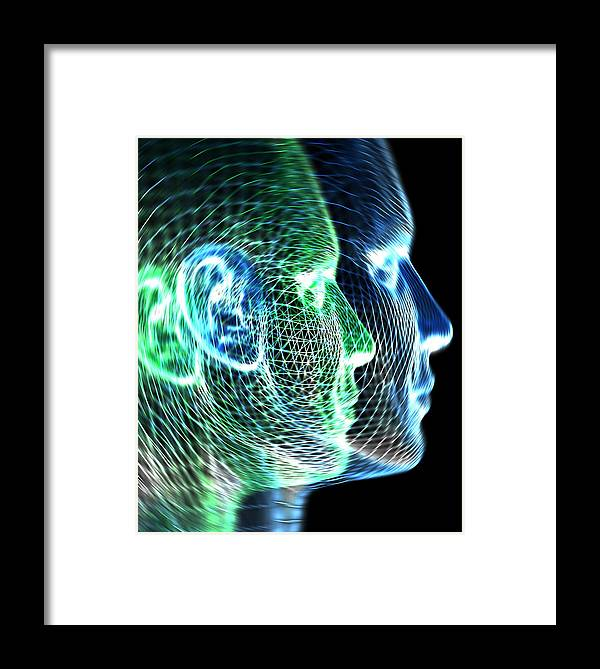 Head Framed Print featuring the photograph Two Human Heads by Pasieka