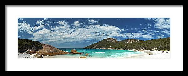 Beach Framed Print featuring the photograph Two Peoples Bay Panorama by James Fulton