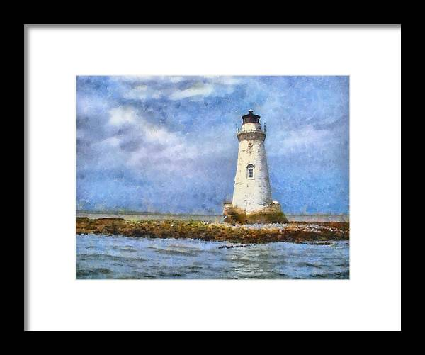 Lighthouse Framed Print featuring the painting Tybee Island Lighthouse by Lynne Jenkins