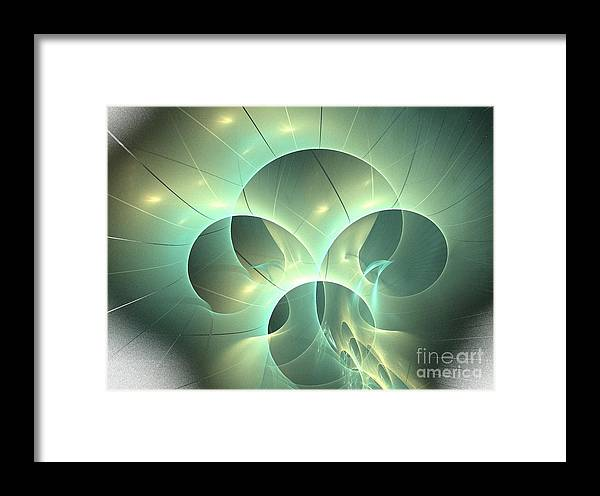 Apophysis Framed Print featuring the digital art Tyche by Kim Sy Ok