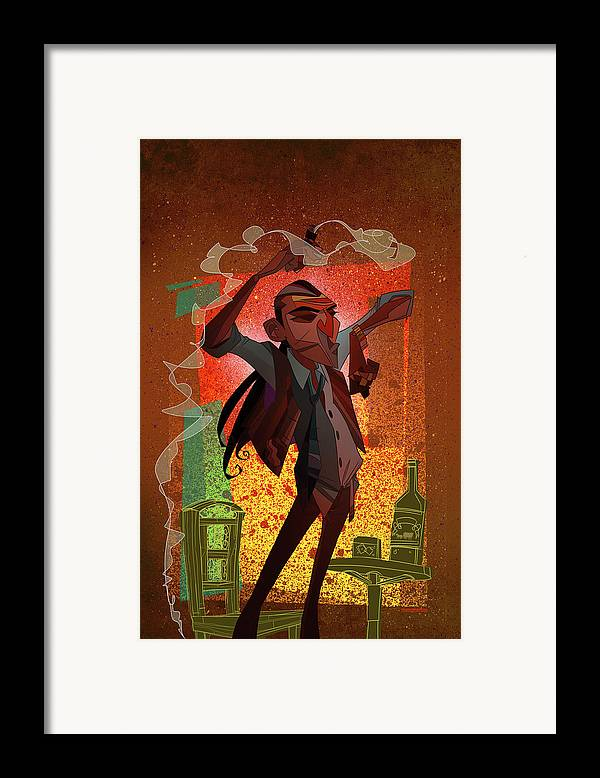Gypsy Framed Print featuring the digital art Un Hombre by Nelson Dedos Garcia