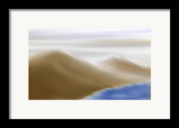 Original Framed Print featuring the painting Under A Winter Sky by Gina Lee Manley