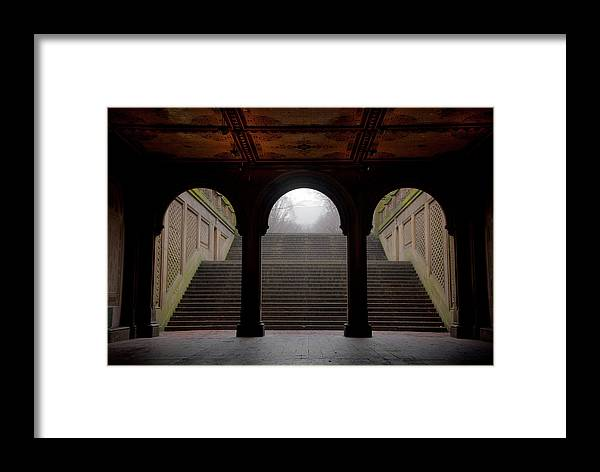 Bethesda Terrace Framed Print featuring the photograph Under Bethesda by Heidi Reyher
