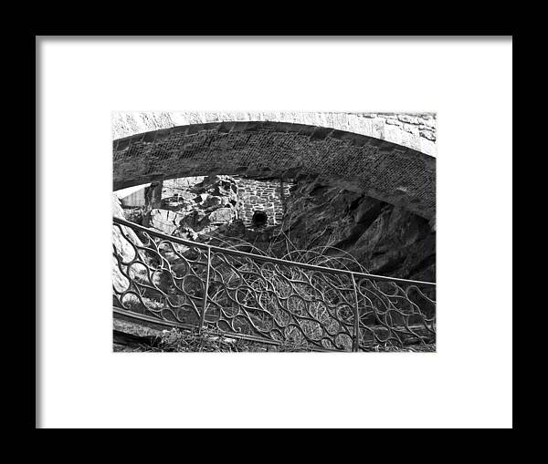 Framed Print featuring the photograph Under The Bridge by Kathleen Foy