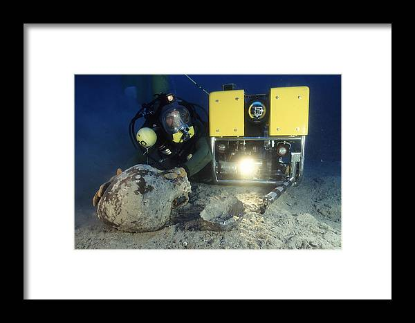 Archaeology Framed Print featuring the photograph Underwater Archaeology by Alexis Rosenfeld