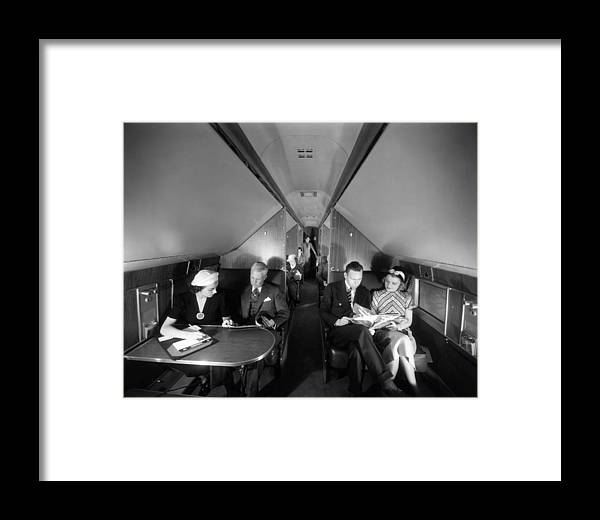 Airline Framed Print featuring the photograph United Airlines Mainliner Sleeper by Everett
