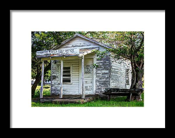 United States Post Office Gober Texas Framed Print by Lisa Moore