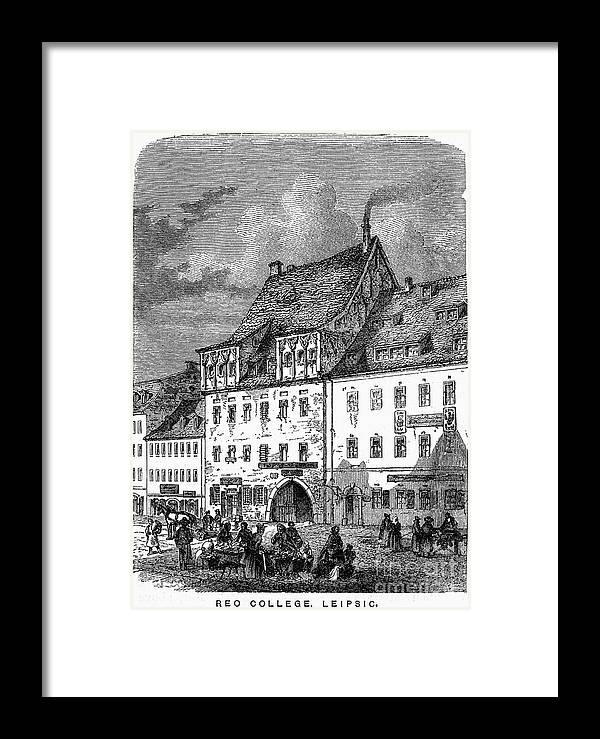 19th Century Framed Print featuring the photograph University Of Leipzig by Granger