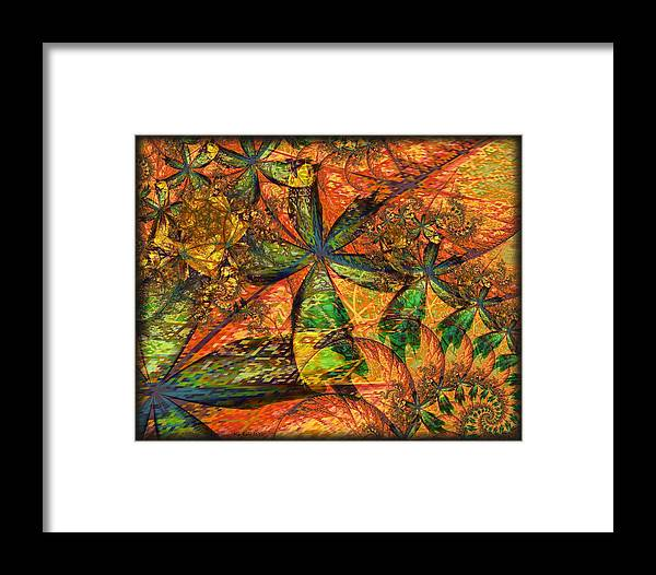 Fractals Framed Print featuring the digital art Unleashed by Kim Redd