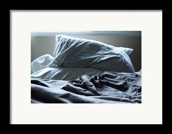 A.m Framed Print featuring the photograph Unmade Bed by Sam Bloomberg-rissman