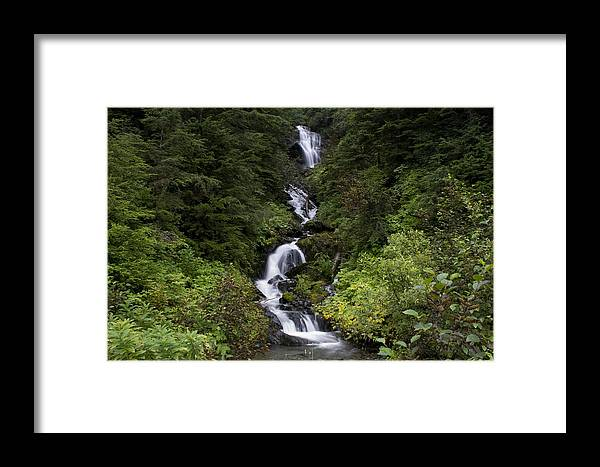 Alaska Framed Print featuring the photograph Unnamed Alaskian Falls by Kim French