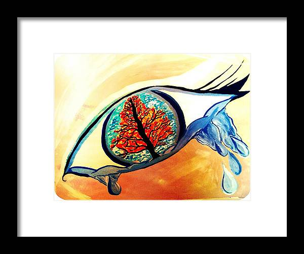 Framed Print featuring the painting Untitled by Kaz