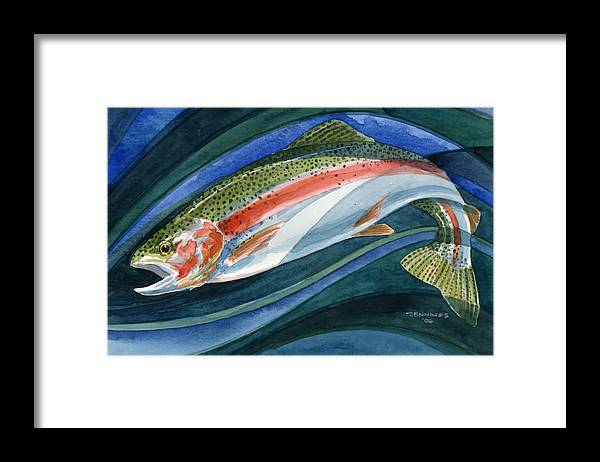 Framed Print featuring the painting Untitled by Mark Jennings