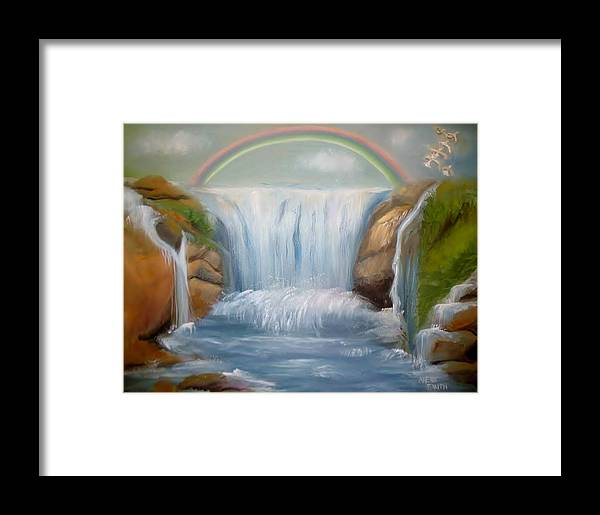 Rainbow Framed Print featuring the painting Untitled by Phebe Smith