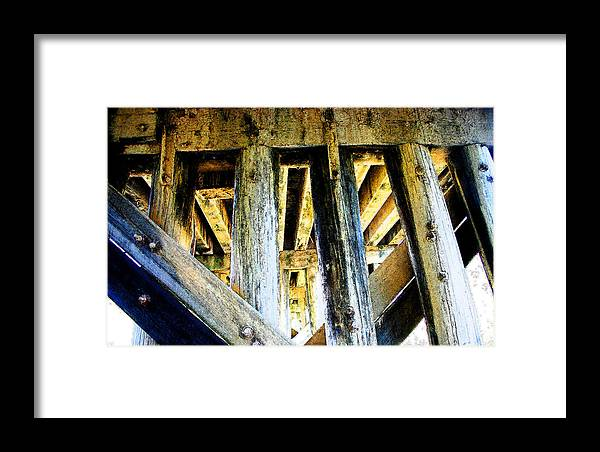 Bridge Framed Print featuring the photograph Up From Under by Nina Fosdick