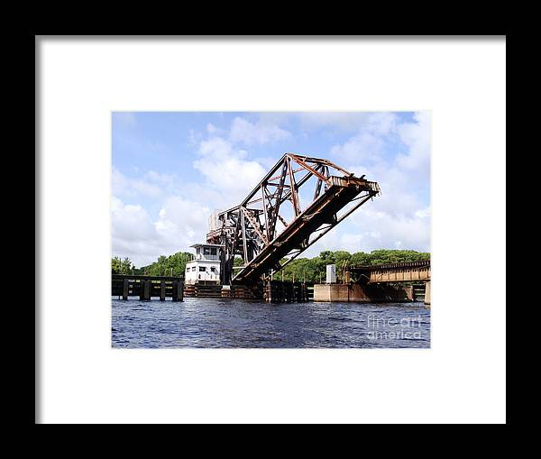 Building Framed Print featuring the photograph Up Good Bridge by Jack Norton