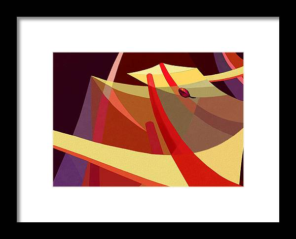 Abstract Framed Print featuring the digital art Updraft by Mathilde Vhargon