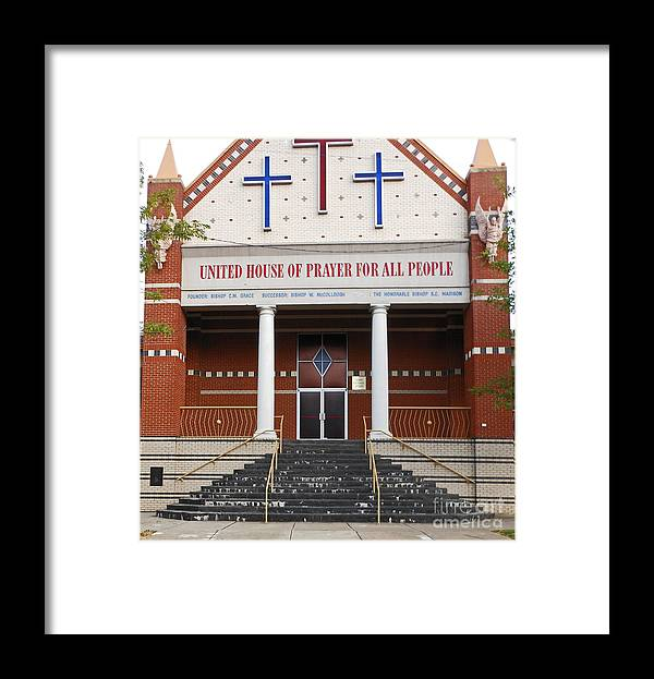 Church Framed Print featuring the photograph Uptown Church by Beebe Barksdale-Bruner