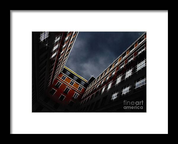 Architecture Framed Print featuring the photograph Urban Drawing by Hannes Cmarits