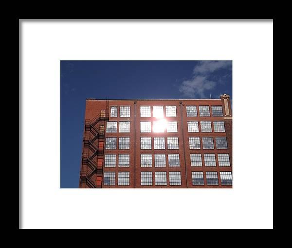 Urban Glare Framed Print featuring the photograph Urban Glare by Elizabeth Sullivan