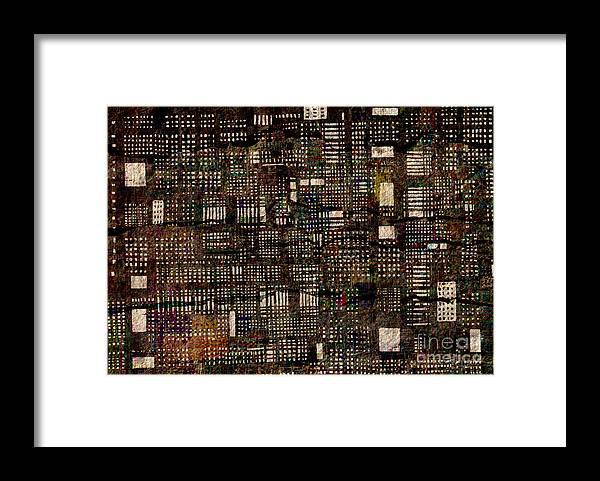 Urbanizaci�n Framed Print featuring the digital art Urbanizacion  by Andy Mercer