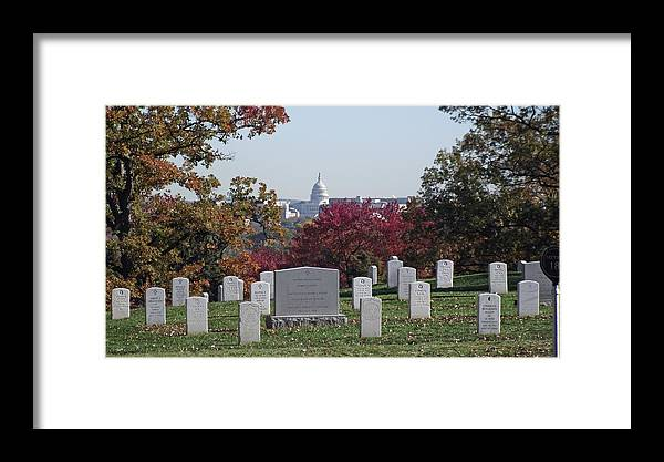 Arlington Framed Print featuring the photograph Us Capitol by Stephen Ogle