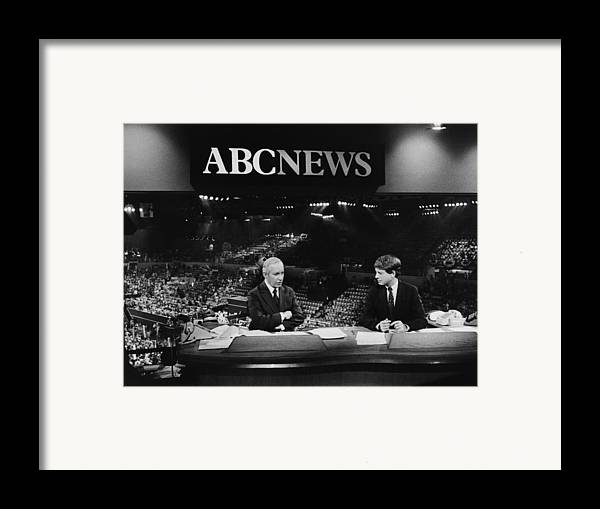 1980s Framed Print featuring the photograph Us Elections. From Left Frank Reynolds by Everett