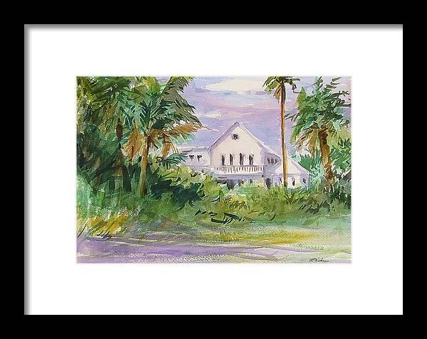 Houses Framed Print featuring the painting Usepa Island House by Heidi Patricio-Nadon
