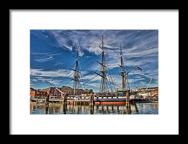 Ship Framed Print featuring the photograph Uss Constitution-boston by Joann Vitali