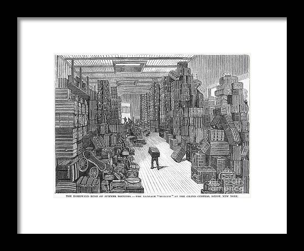 1882 Framed Print featuring the photograph Vacation Travel, 1882 by Granger