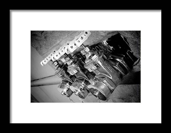 Black Framed Print featuring the photograph Valves by Paul Bartoszek