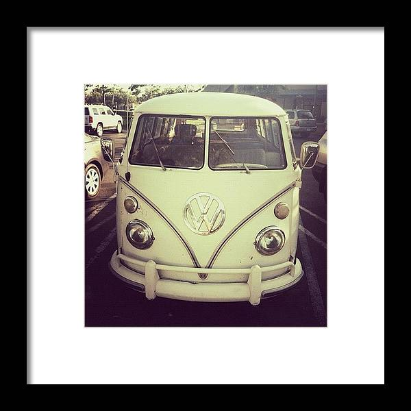 Vanlife Framed Print featuring the photograph #vanlife #vw #vwbus #vintage #retro by Allison Faulkner